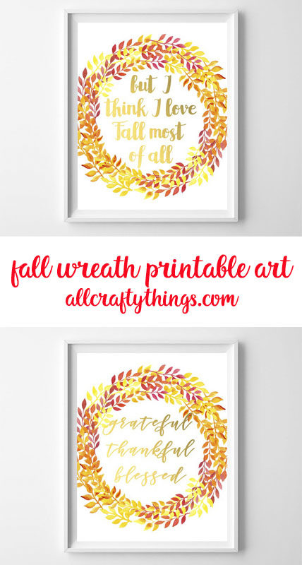 fall wreath printable art