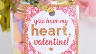 happy valentines day printable tags