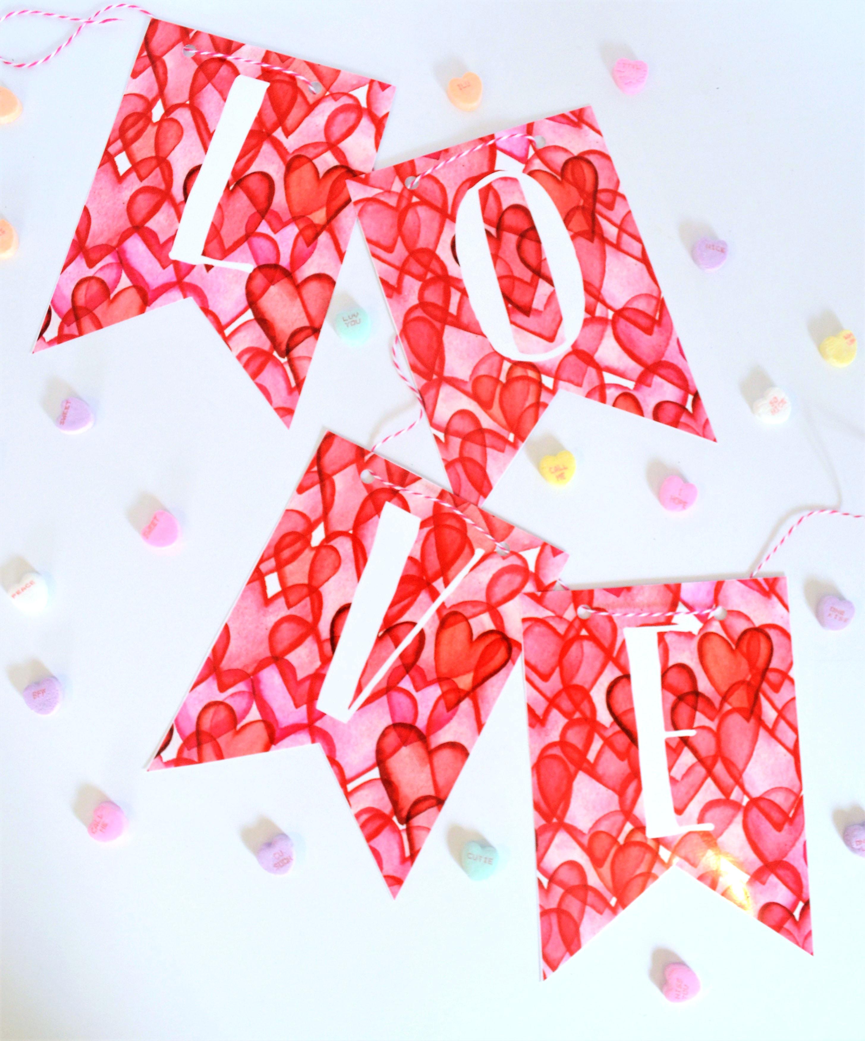 valentines day printable banner