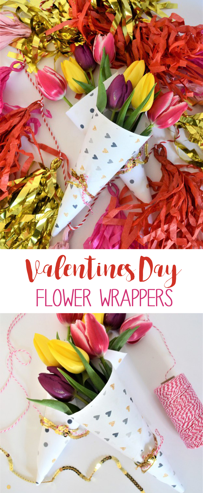 printable flower wrapper