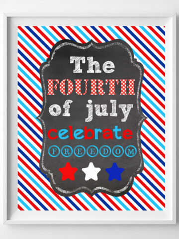 fourth of july printable art