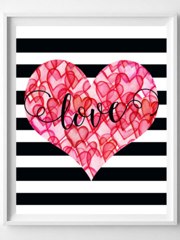 valentines day love printable