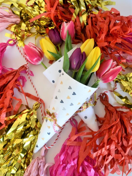 valentines day flower wrappers