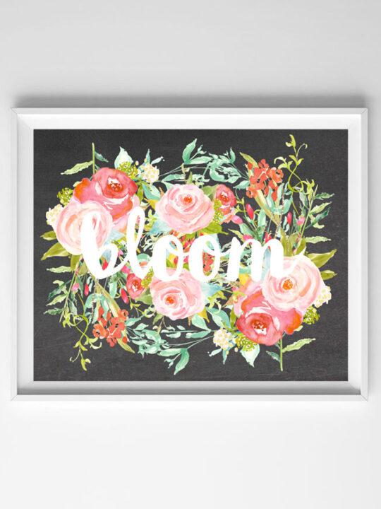 bloom free printable