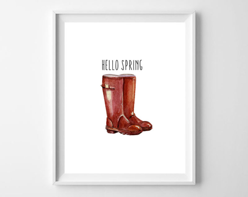 spring boots free printables