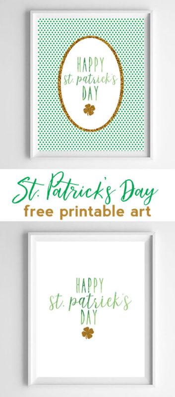 st pattys day printable