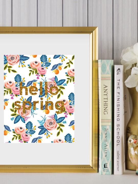 hello spring printable art