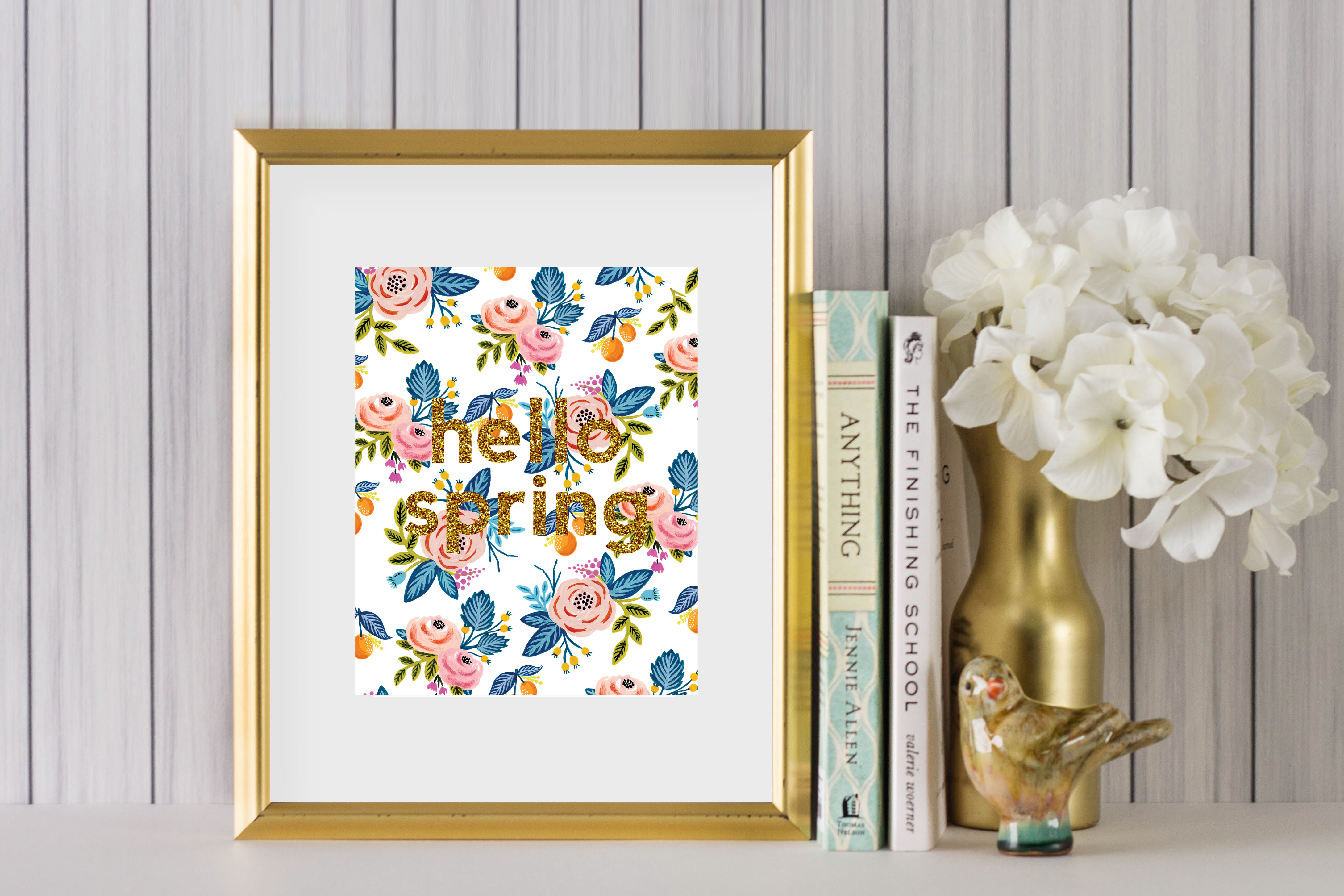 hello spring printable art