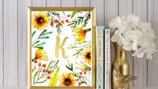 sunflower initial art