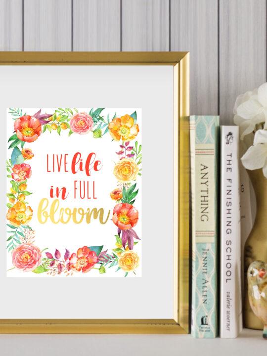 floral printable
