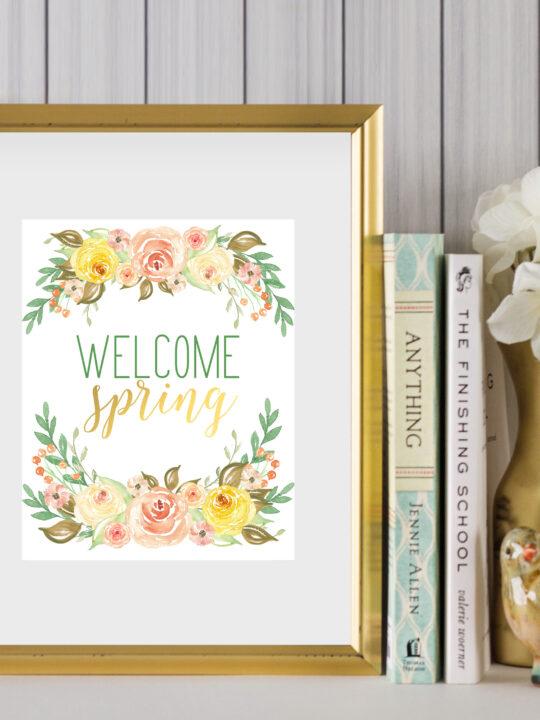 welcome spring printable art