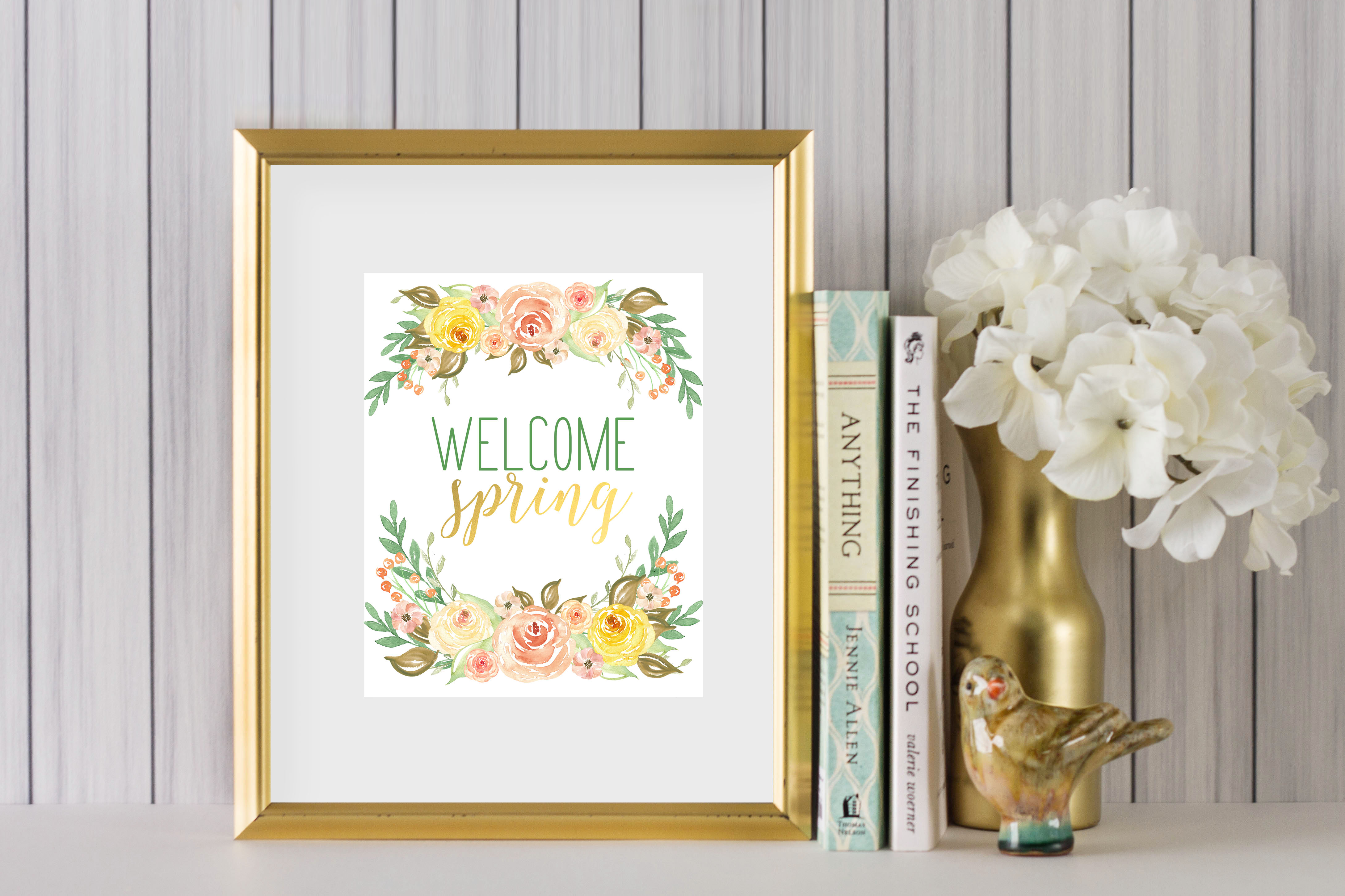 welcome spring printable art