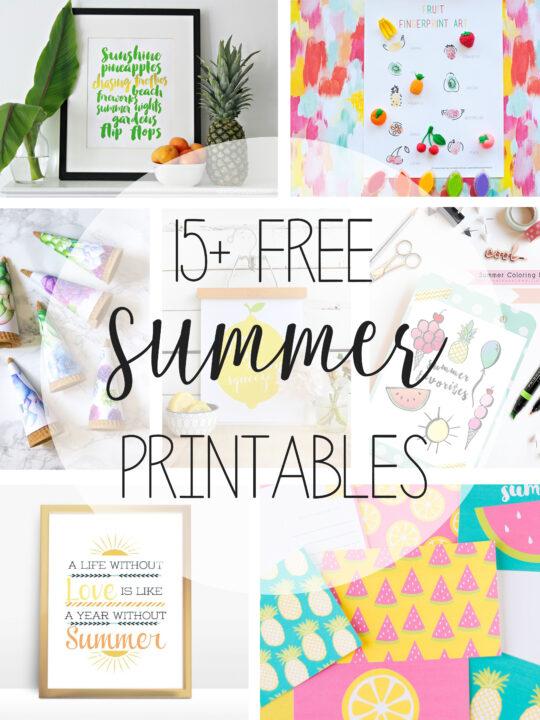 free summer printables