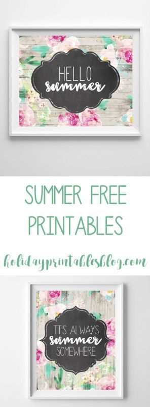 summer art | summer printables | beach wall decor | beach art | free printables