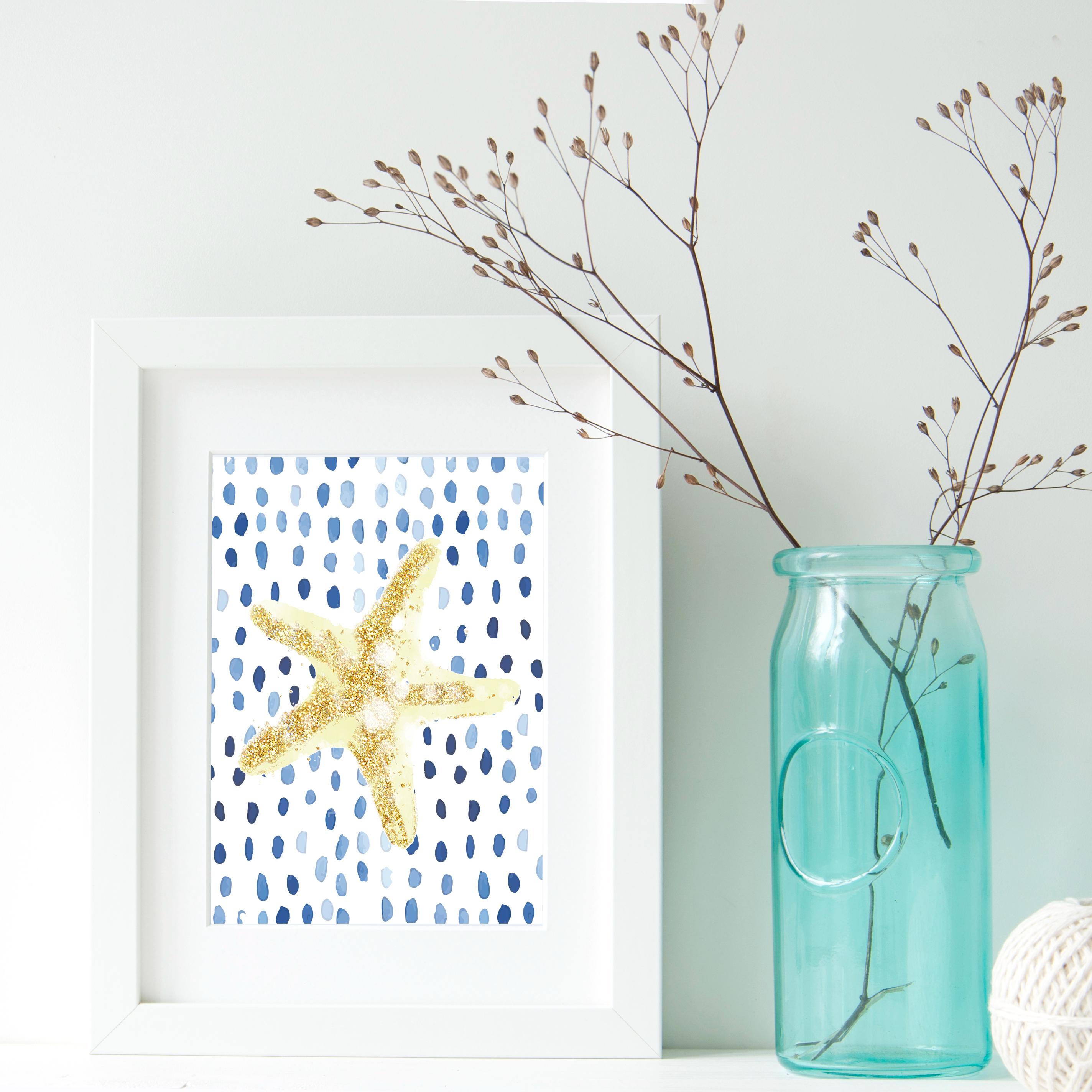 starfish beach printable