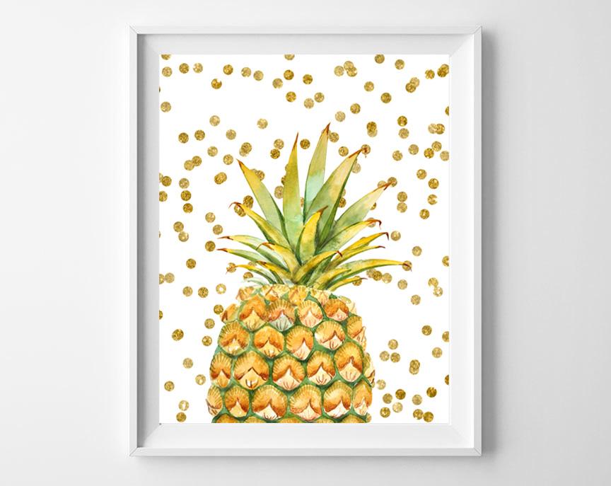 pineapple printable art
