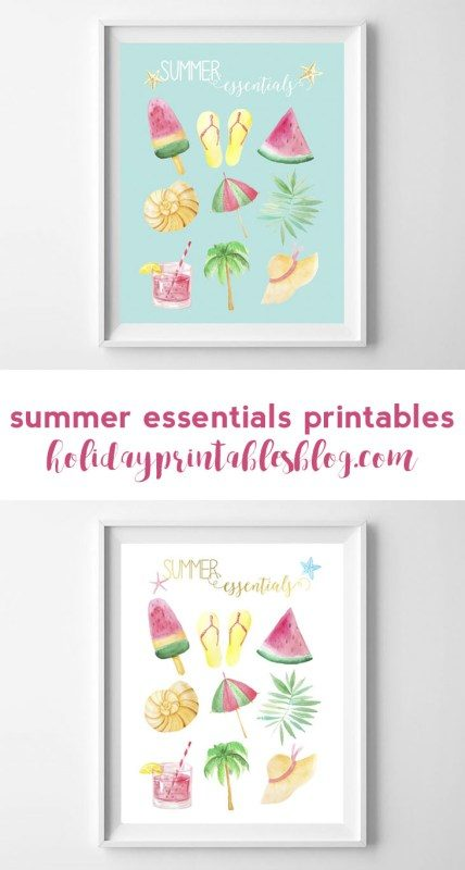 summer printables | beach art | beach decor | summer wall art | free printables