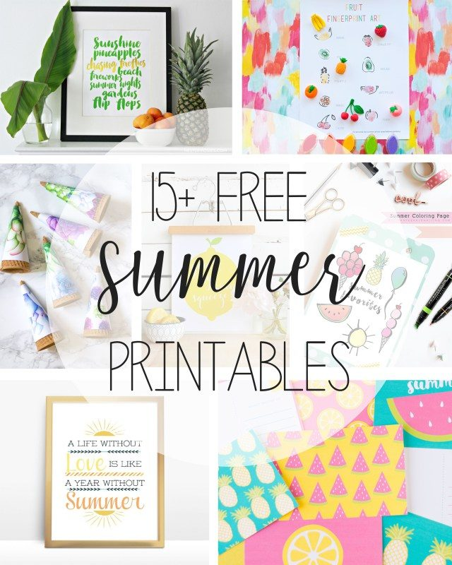 summer printables | printable art | summer decor | wall art