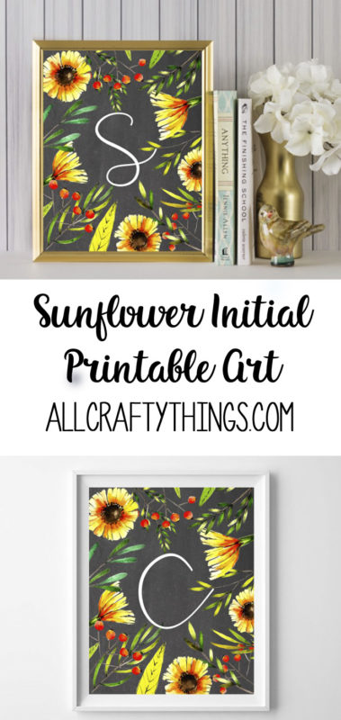 sunflower initial printables