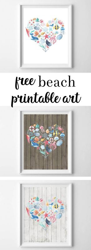 These Rustic Nautical Themed Free Printables Are Perfect For The Beach Lover In Your Life Featuring Choice Of Three Different Backgrounds