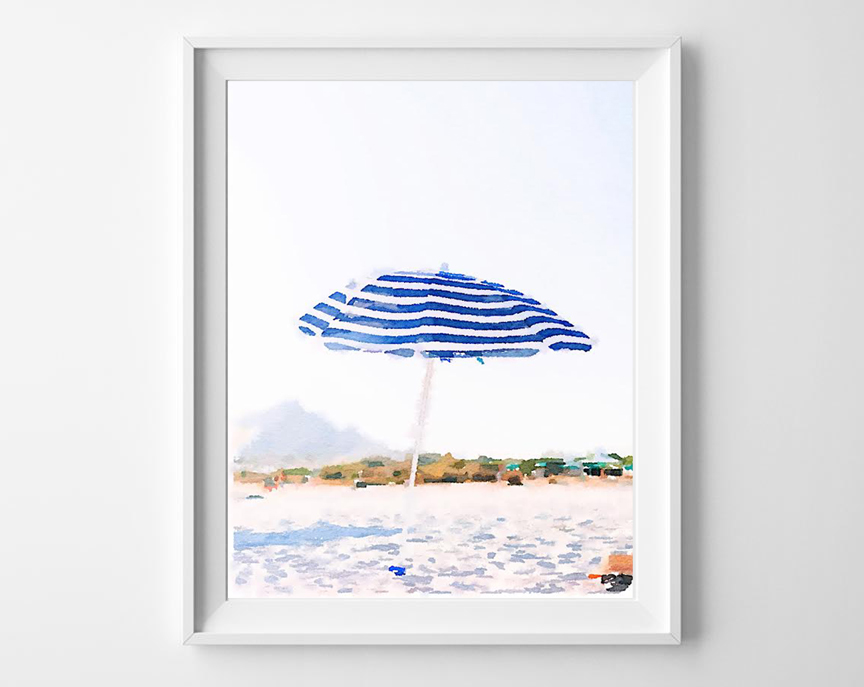 beach watercolor printable 2