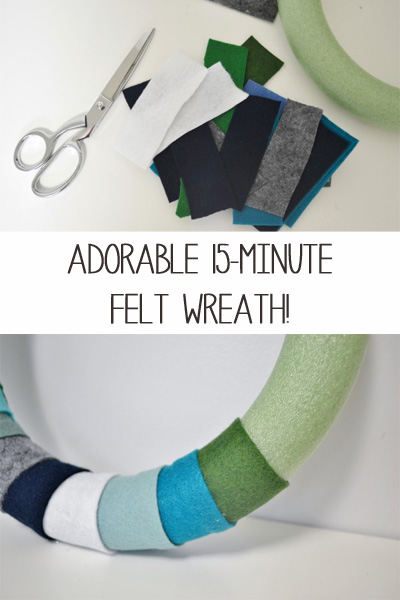 felt wreath diy