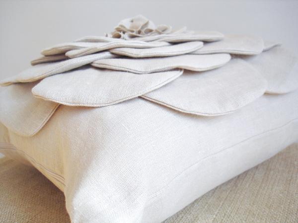 shabby flower pillow