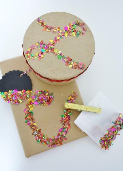 confetti gift wrap 2