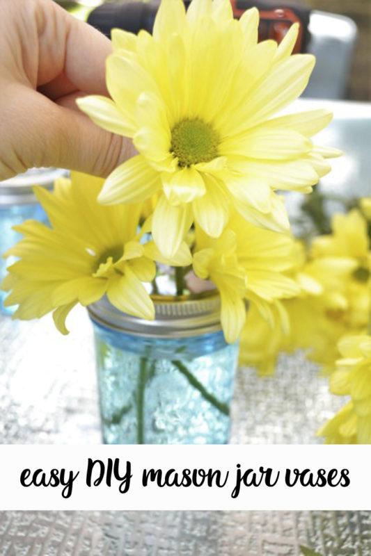 Easy Mason Jar Vases All Crafty Things