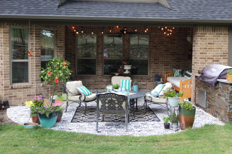 how to stencil patio