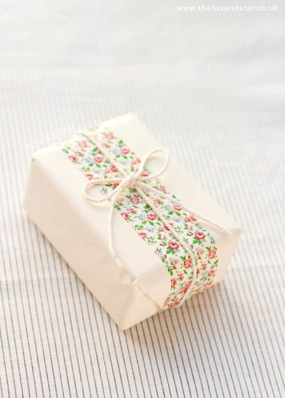 washi wrapped soap