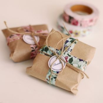 washi tape soap