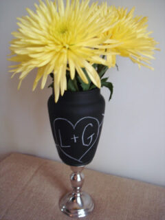 how to make chalk vase