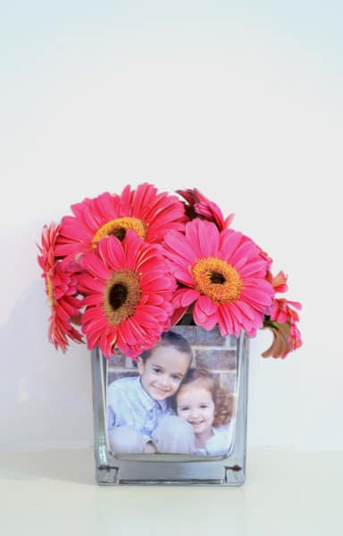 how to make a photo vase