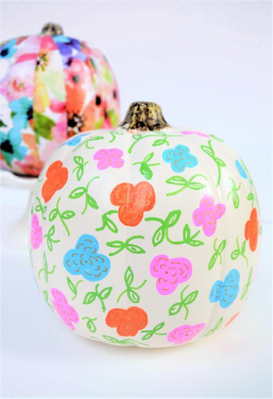 painted pumpkin diy