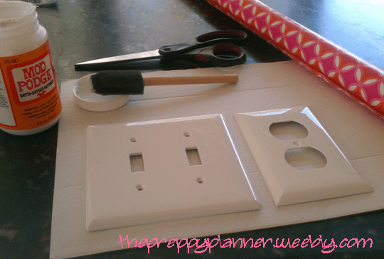 mod podge light switch cover 2