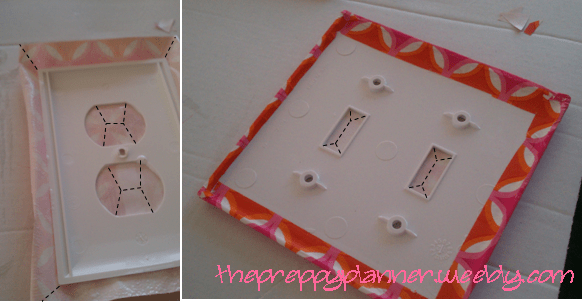 mod podge a light switch cover