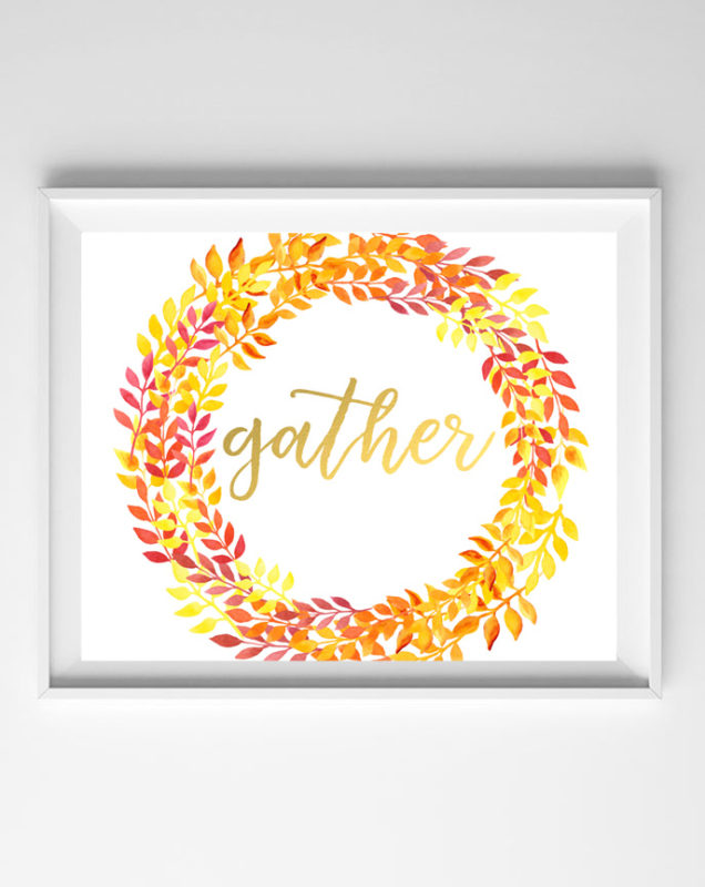 gather printable