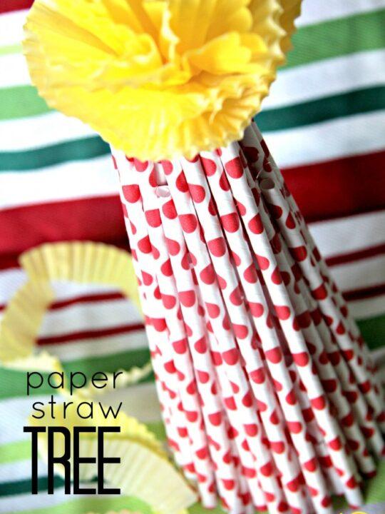 paper straw tree