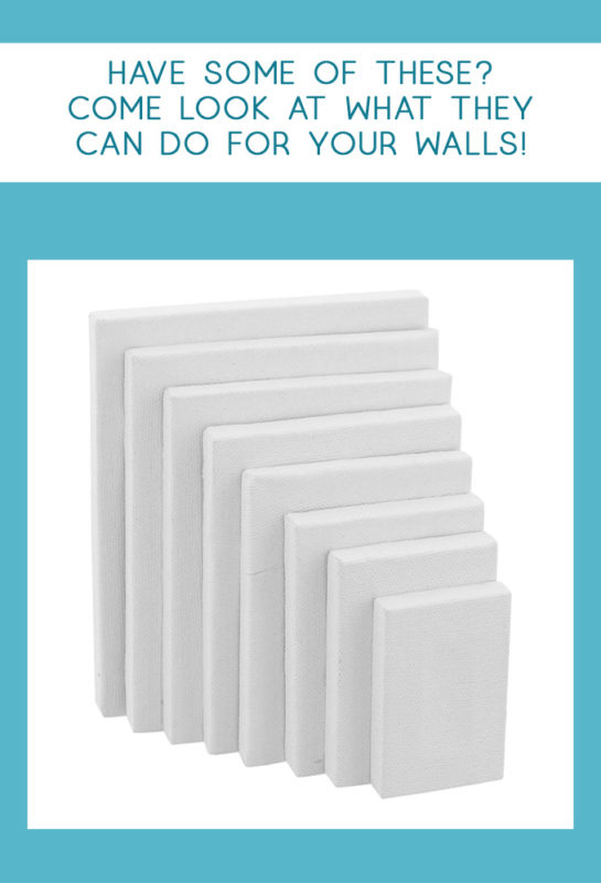 blank canvas | canvas wall art | wall art ideas | diy art