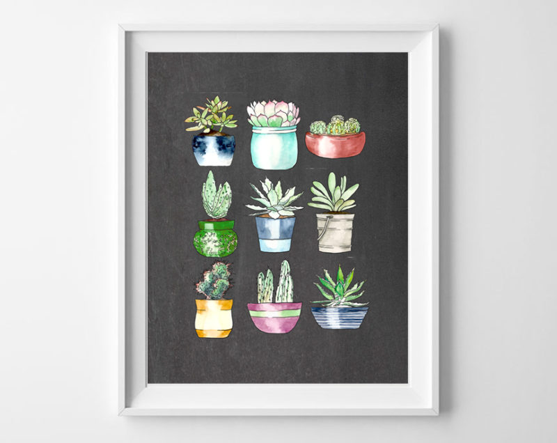 succulents art printable 2