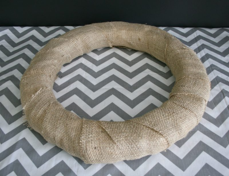 burlap wreath form