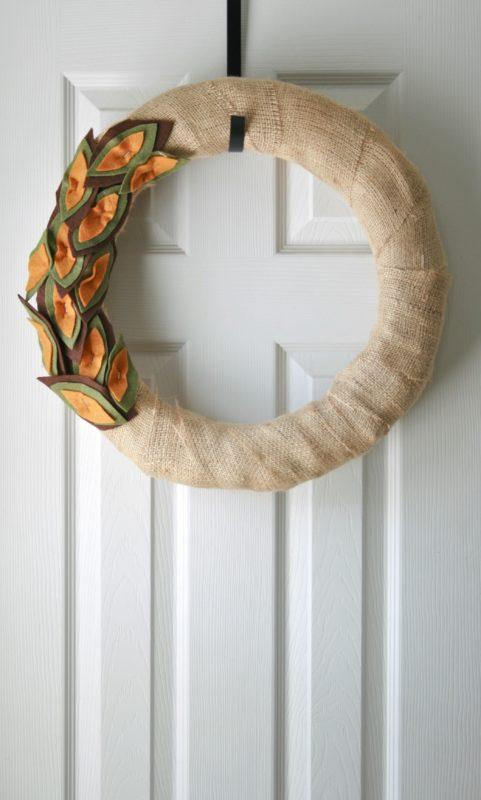 felt burlap wreath