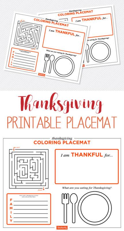 free printable placemat