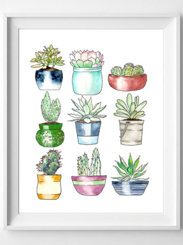 succulents art printable