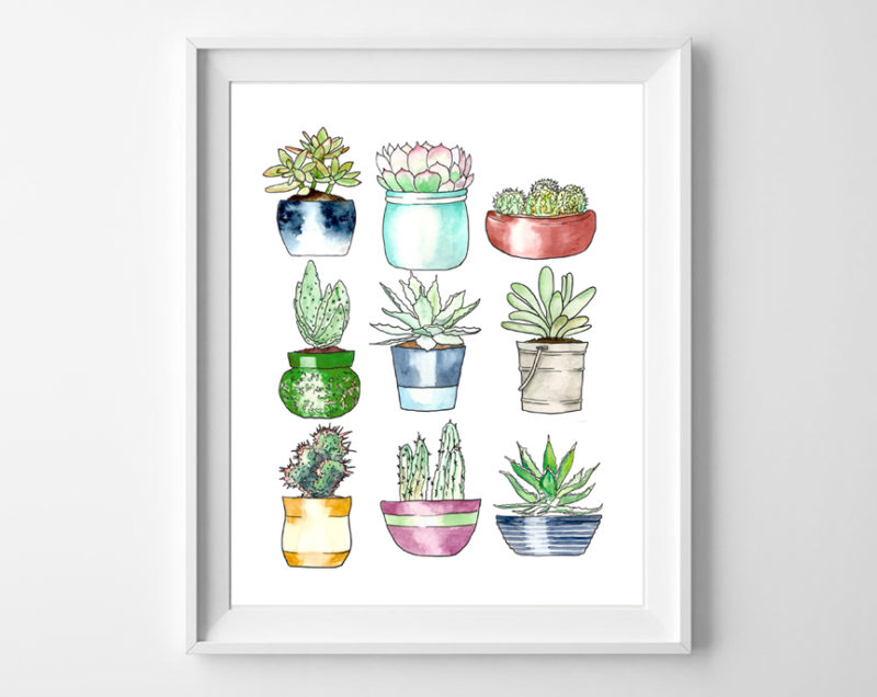 succulents art printable