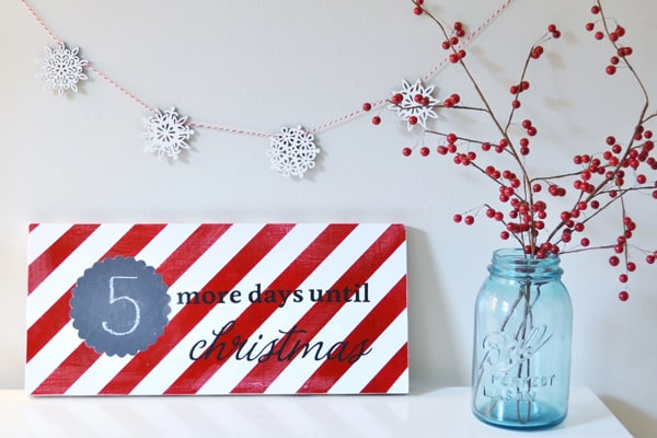 wooden christmas countdown