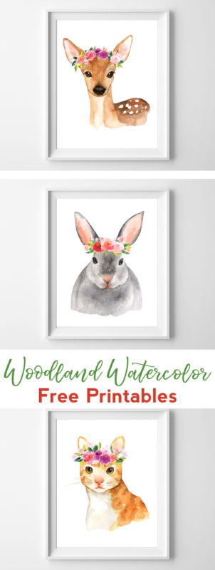 graphic regarding Free Printable Nursery Art named Watercolor Woodland Printable Nursery Artwork - all cunning aspects