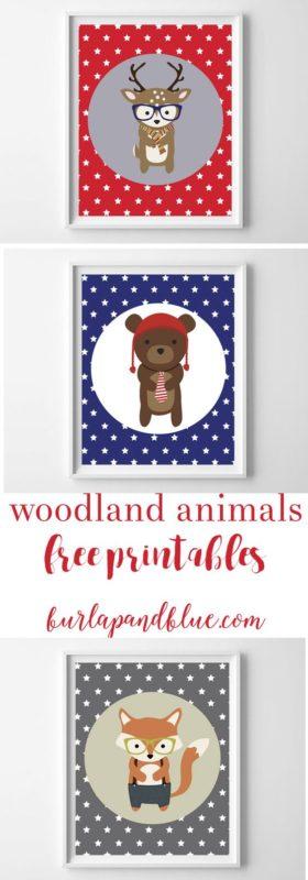 woodland printables