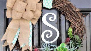 twig door wreath